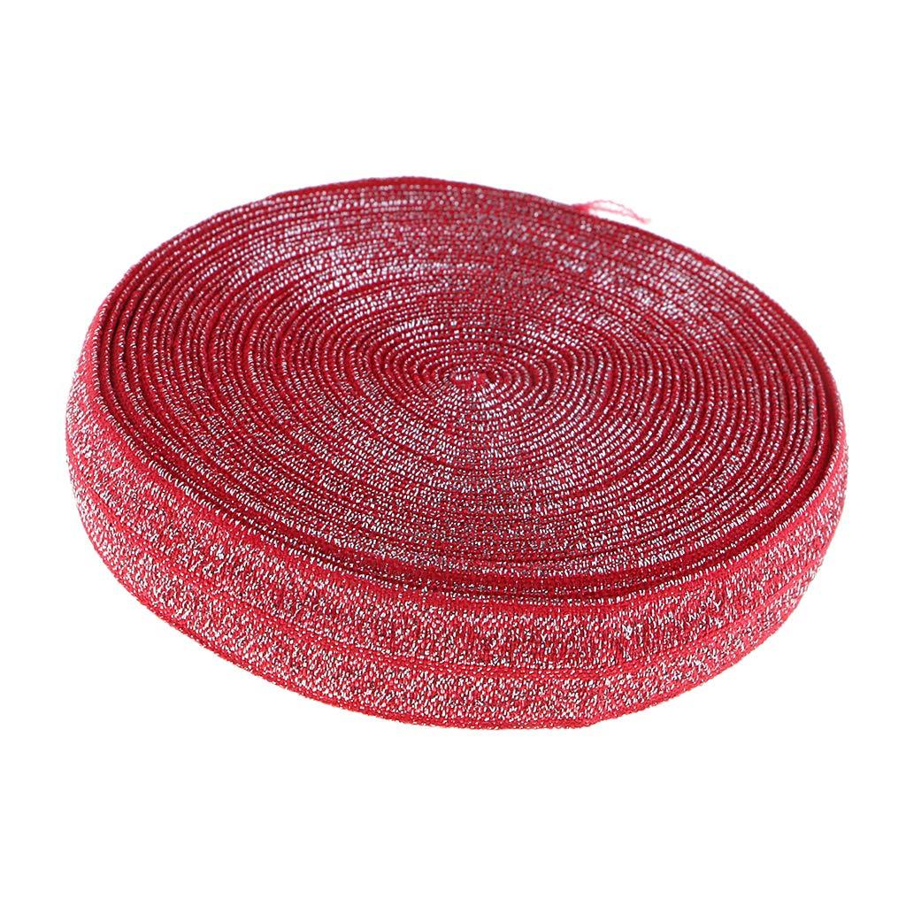 sharprepublic 5 Yards Nastro Elastico Banda di Cotone Elastica Larghezza 1,5 Cm Tessuto per Cucire Abbigliamento Artigianato Mestieri DIY Rosa