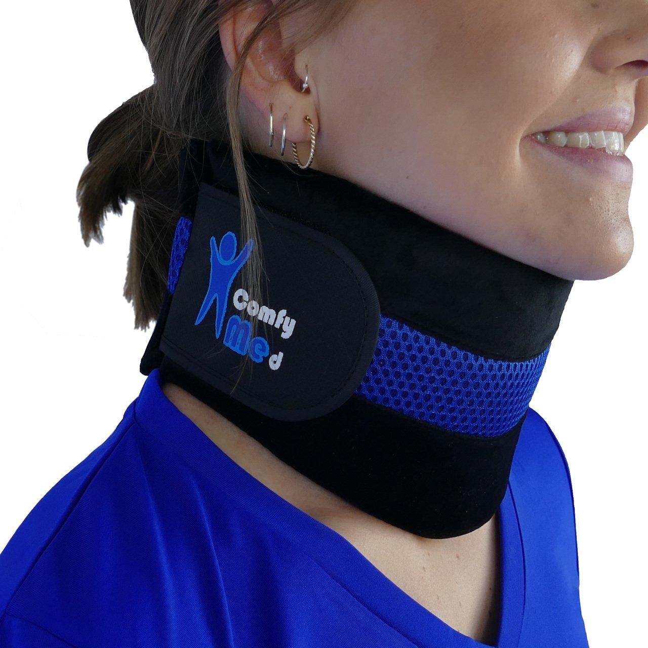 ComfyMed Neck Brace CM-NB18 Cervical Neck Support Collar for Men and Women (LGE 15'' to 18'')