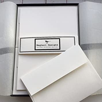 plain writing paper and envelopes