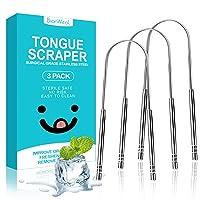 Tongue Scraper Oral Cleaner Tongue Brush Dental Kit for Adults & Kids Eliminate...
