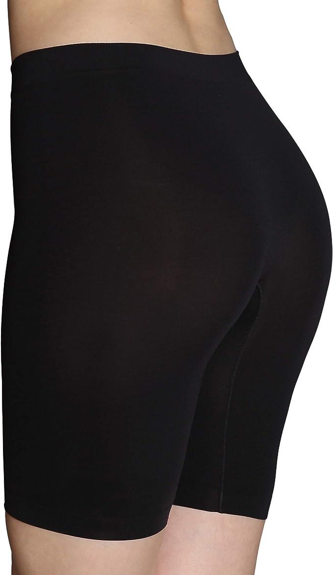 INNERSY Womens 2 Pack Slip Short Seamless Smooth Stretch Boyshort Boxer Briefs