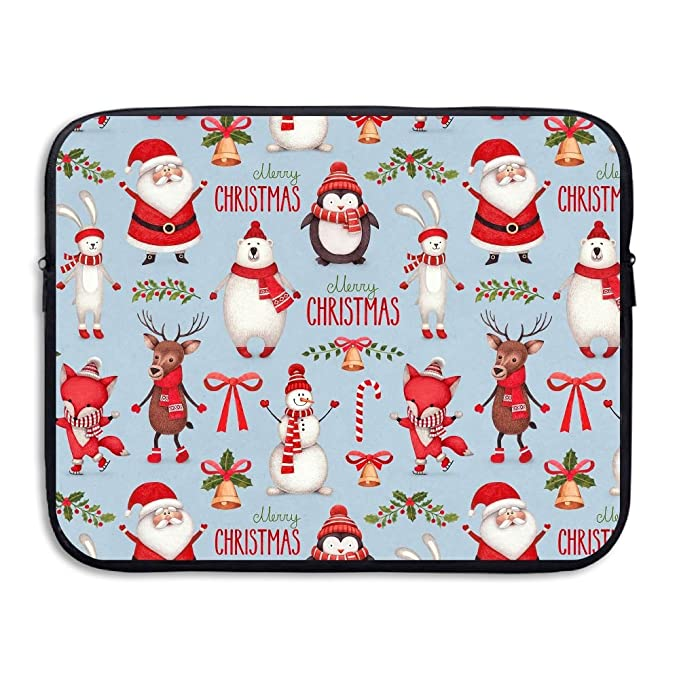 8021cb3f8ad3 Amazon.com: Merry Christmas Santa Claus Snowman Notebook Briefcase ...