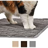 The Original GORILLA GRIP (TM) Premium Cat Litter Mat, Phthalate Free, Traps Litter from Box and Paws, Soft on Sensitive Kitty Paws, Easy to Clean, Durable