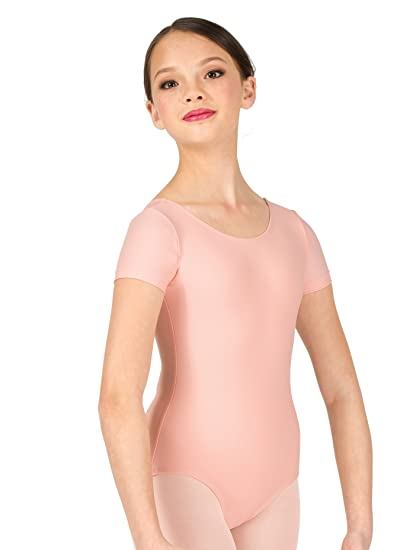 c8b61f025937 Amazon.com  Child Short Sleeve Dance Leotard D5102C  Clothing