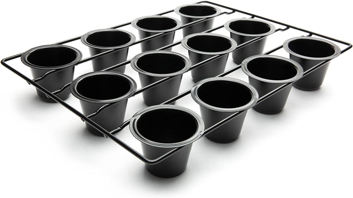 Amazon Com Fox Run 4756 Linking Mini Popover Pan Carbon Steel Non Stick 12 Cups Baking Dishes Kitchen Dining