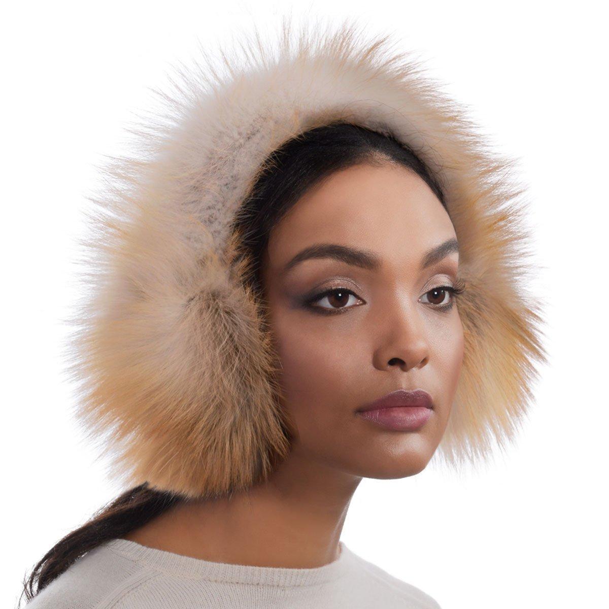 Eric Javits Luxury Fashion Designer Women's Headwear Hat - Fur EarMuffs - Golden Isle
