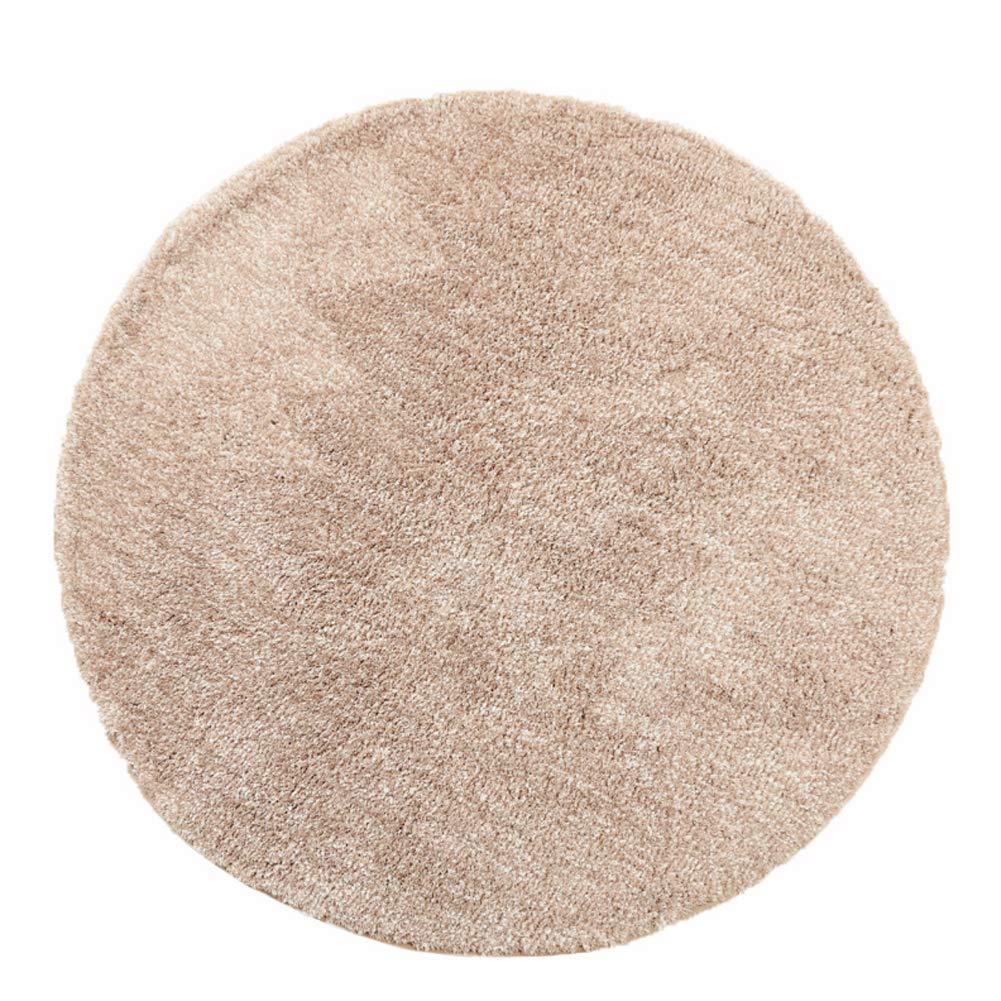 Aishankra B26 Home Rutschfester Teppich Runder Europäischer Stil Bedside Blanket Room Area Teppiche Mat 3& 039;9 & 039;& 039; Durchmesser   120Cm,Beige
