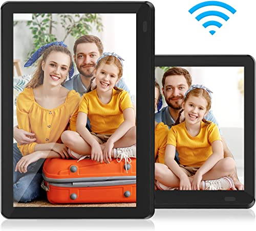 Atatat WiFi Digital Picture Frame 10 Inch with FHD 1920×1080 IPS Touch Screen, Auto-Rotate, Share Photos via Email, App, Portrait or Landscape