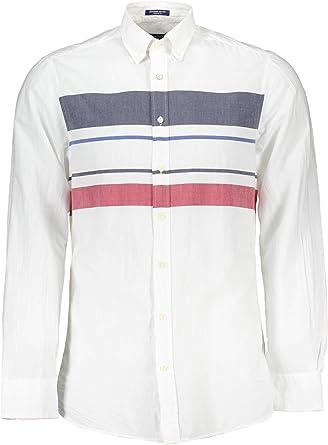 Gant 1601.347460 Camisa con Las Mangas largas Hombre Blanco 110 S: Amazon.es: Ropa y accesorios