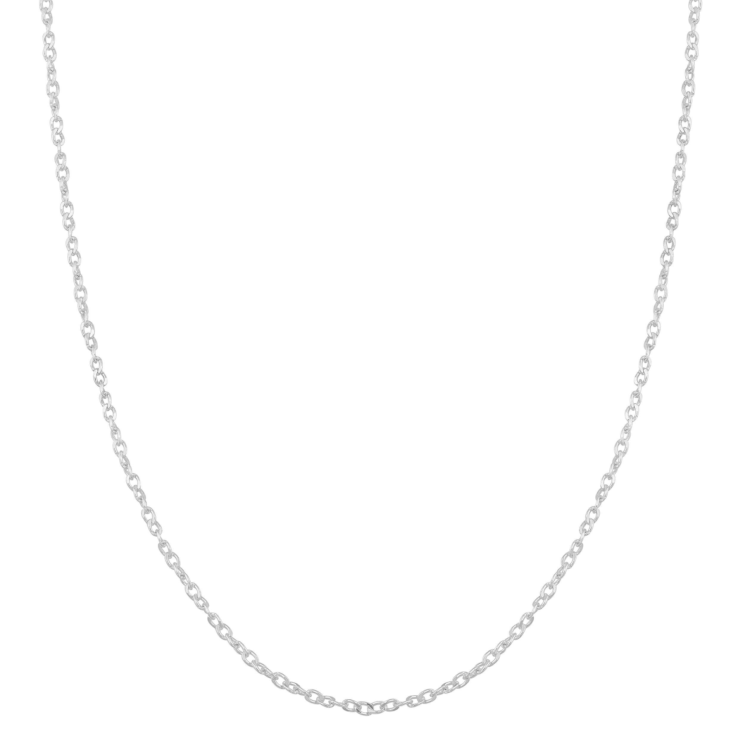 Kooljewelry Sterling Silver 1mm Twisted Curb Chain (22 inch)