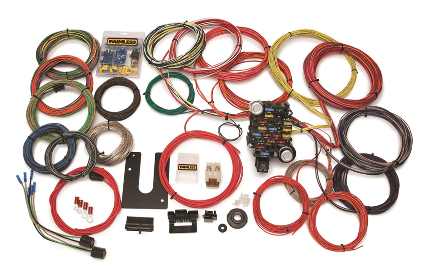 Painless Wiring 10220 28 Circuit Classic Plus Indian Motorcycle Trailer Harness Customizable Trunk Mount Chassis
