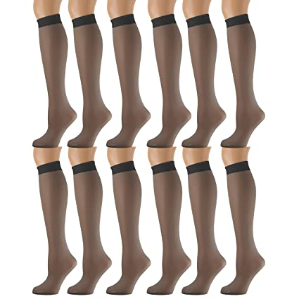 1a2510701 Yacht   Smith 12 Pairs of Sheer Trouser Socks for Women