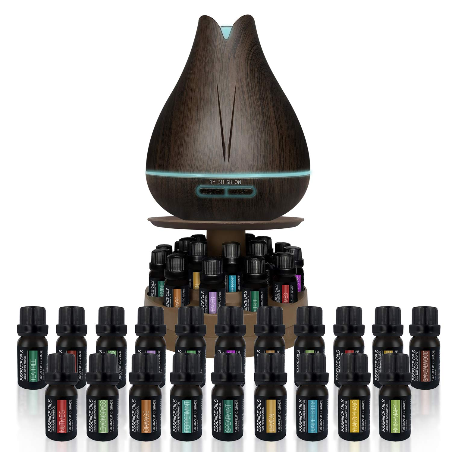 400ml Ultrasonic Diffuser with 20 Essential Plant Oils