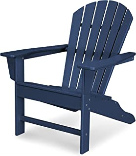 product image for POLYWOOD SBA15NV South Beach Adirondack Chair, Navy