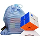 OJIN GAN 249 V2 2x2 Stickerless Ganspuzzle Gan249 2x2x2 Speed Magic Cube Brain Teaser Twist Puzzle with One Cube Bag and One Cube Tripod