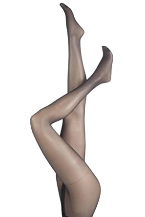 dc70775e67f21 Ladies 1 Pair Charnos 10 Denier Elegance Sheer Tights In 5 Colours - Large  - Barely Black: Amazon.co.uk: Clothing
