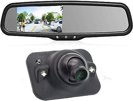 "4.3/"" Rear View Mirror Monitor Parking Kit Waterproof Reverse Car Backup Camera"