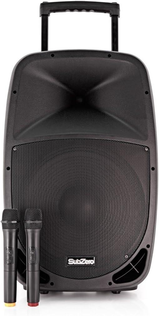 SubZero SZPA-P15 PA Port/átil con Bluetooth y Micr/ófonos Inal/ámbricos
