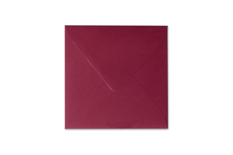 feuchtklebend Grammatura briefumschlaege24/Plus 100/Buste 15/x 15/cm 150/X 150/mm Bordeaux chiusura 120/G//M/²
