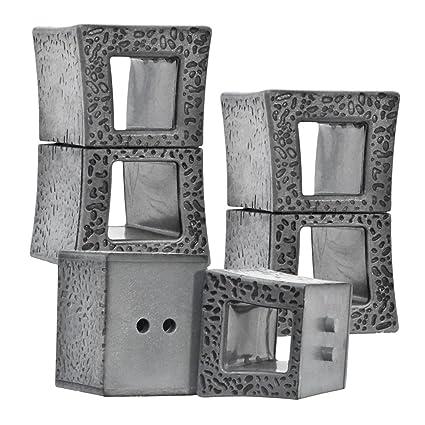 Amazon com: Set of 3 Plastic Toy Miniature Concrete Blocks