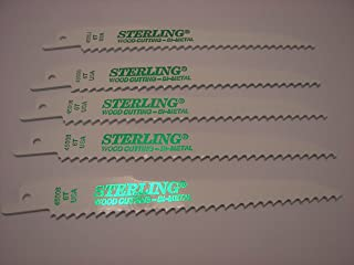 """product image for Sterling Reciprocating Sawzall Blades 5) 6"""" 6T made in USA"""
