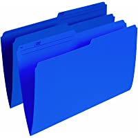 Pendaflex Colour File Folders, 1/2 Cut Tab, Legal, Navy, 100/Box