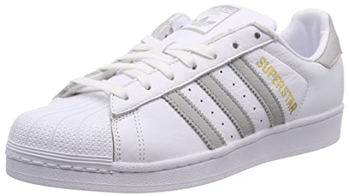 uk availability 6a2f0 11073 adidas Superstar W, Scarpe da Ginnastica Donna, Bianco Ftwr Grey Two  F17 Ftwr