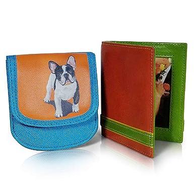 Amazon.com: TAXI WALLET French Bulldog VEGAN - Monedero de ...