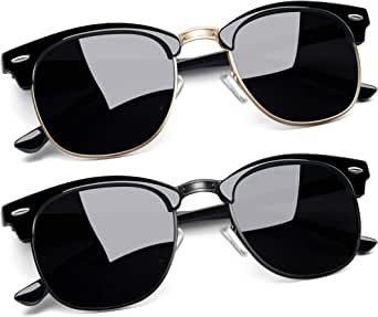 Joopin Gafas de Sol Polarizadas Cuadradas Cl/ásico Retro Vintage para Hombre y Mujer con Protecci/ón UV400 Gafas para Conducci/ón y Deportes al Aire Libre