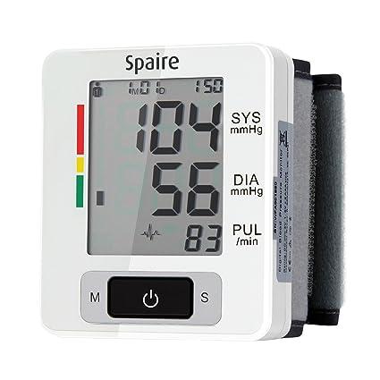 Spaire Tensiómetro de Muñeca Eléctrico Probado por Médicos Lecturas Precisas de Presión Arterial Monitor de Tensión