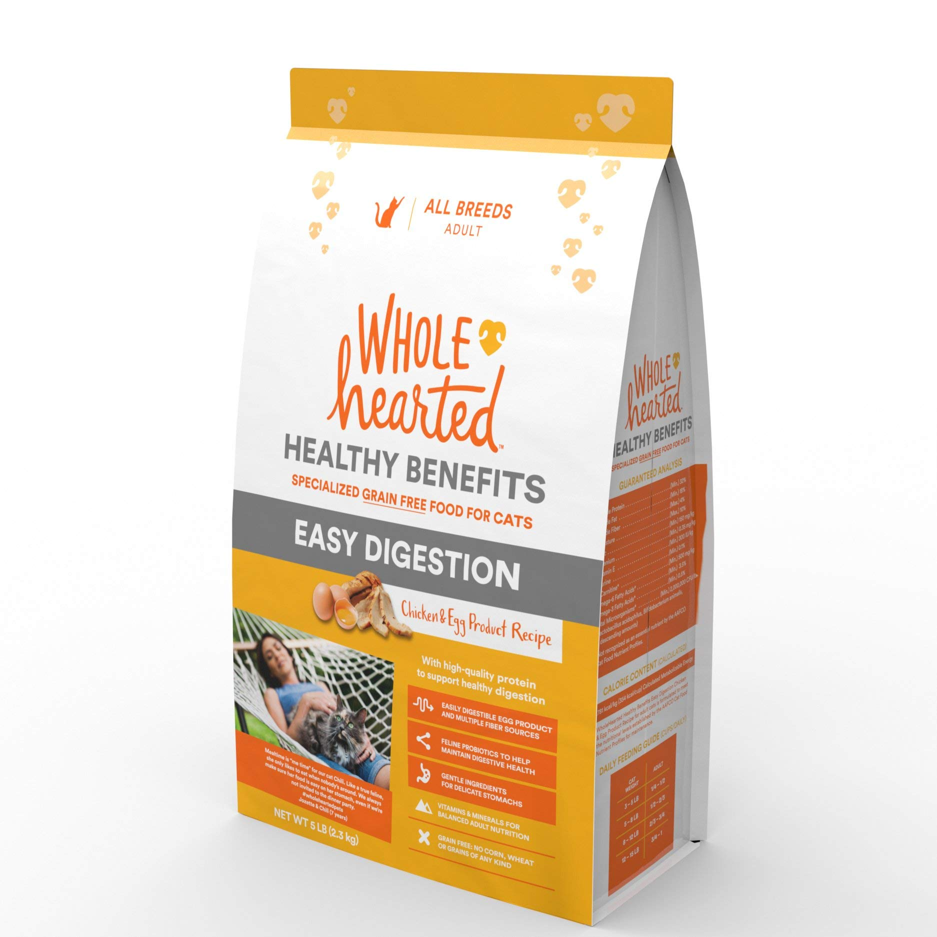 WholeHearted Healthy Digestion Chicken and Egg Product Recipe Dry Cat Food, 5 lbs. by WholeHearted