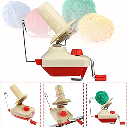 Quick Yarn Fiber String Ball Wool Holder Hand Operated Home Knitting Tool Home Garden Home DIY for 4th of July Gifts Onsale Celiy Yarn Winder