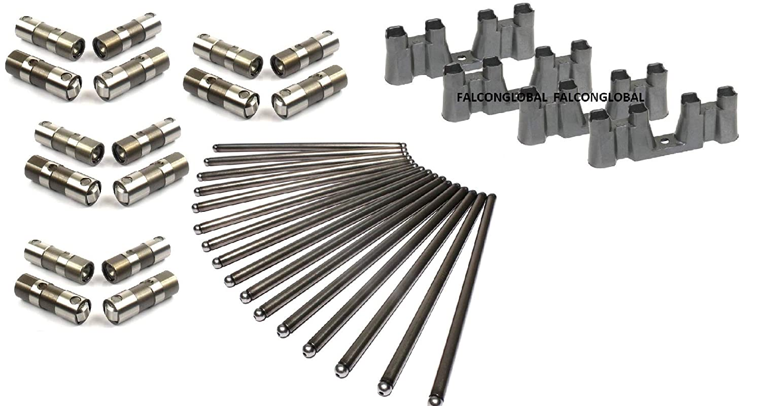 Replacement Roller Hylift Johnson Lifters TRAYS & BOLTS & Push Rods for 1997-2012 Chevy 5.3 5.7 6.0 NON-AFM LS1 LS2 LS3 LS7 HYLift Johnson Elgin
