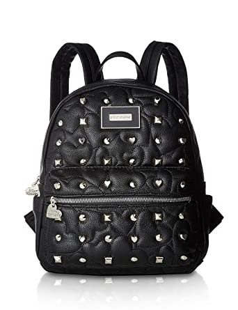 527b13e78a4 Amazon.com   Betsey Johnson Women s Printed Backpack Black One Size ...