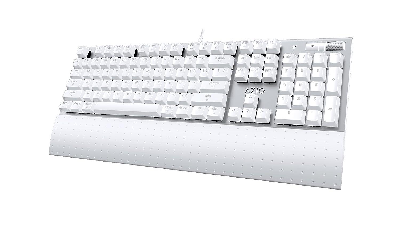 AZIO MK MAC Wired Mechanical Backlit keyboard, Brown switches, Full ...