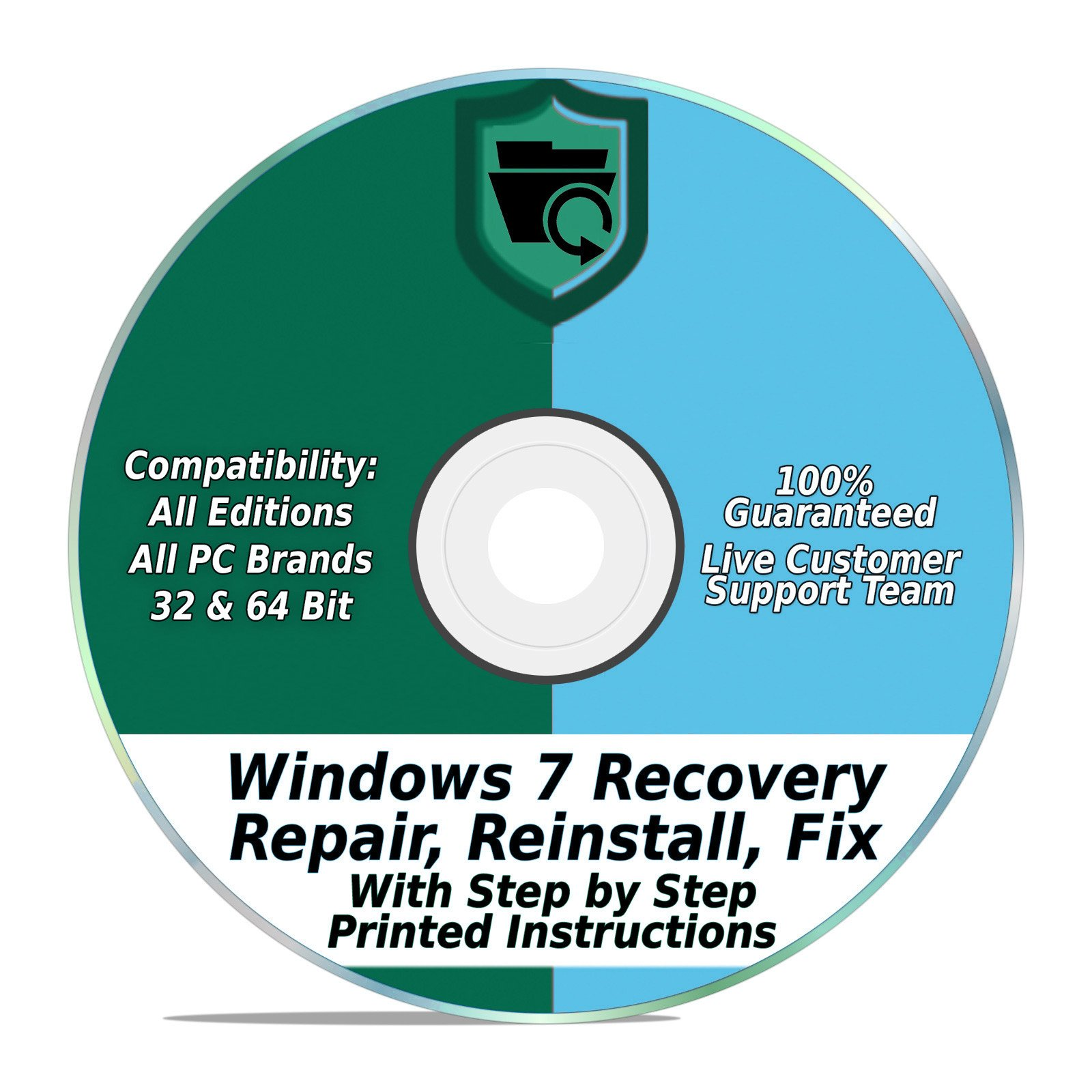 Windows 7 Repair Recovery Disk 32 64 Bit Dvd Reinstall Reboot Laptop Hp Diagram Fix All Brands