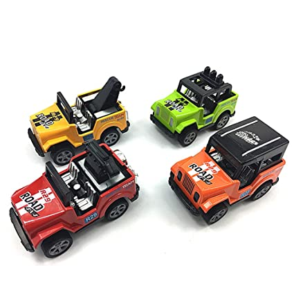 Amazon Com Toy Jeep 4 Pcs Pullback Jeep Wrangler Vehicles Toys