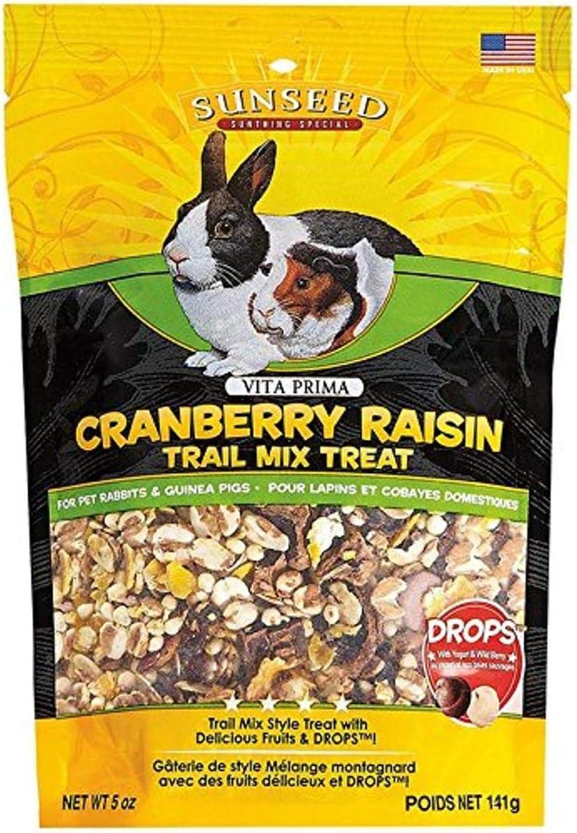 Sun Seed 36031 5 Oz Company Cranberry Raisin Vita Prima Trail Treat For Rabbits & Guinea Pigs, One Size