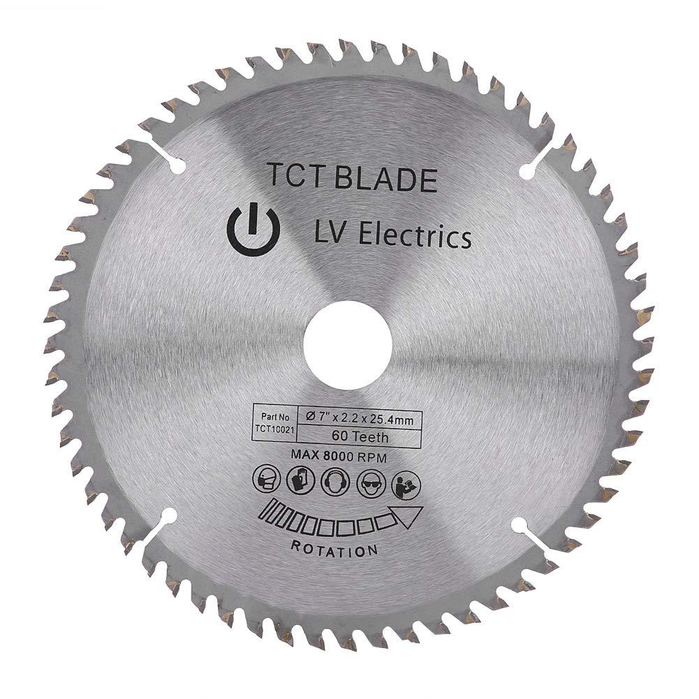 Lama Sega Circolare in Argento con 60 Denti da TCT 180 mm per Taglio del Acciaio, Alluminio, Ferro, Legno