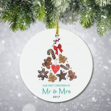 amazon com vilight first christmas ornament 2017 for just married