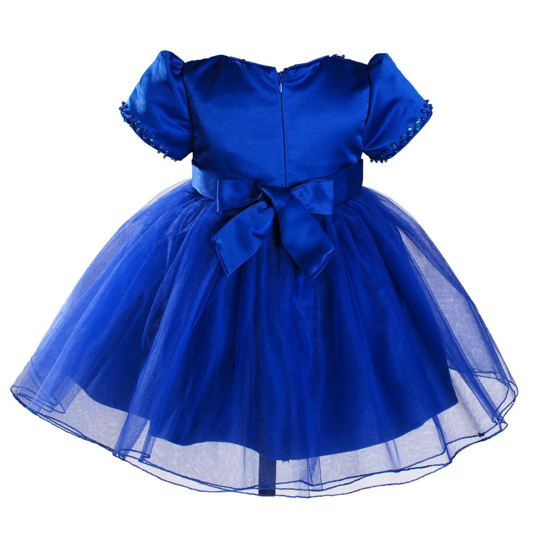 Vestidos de fiesta azul y blanco