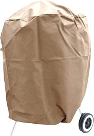 Perfect for Weber Char-Broil Smokers//Grills Desert Sand 600D Heavy Duty Round Smoker Cover 23 Dia x 25 H UNICOOK Outdoor Kettle Grill Cover Small