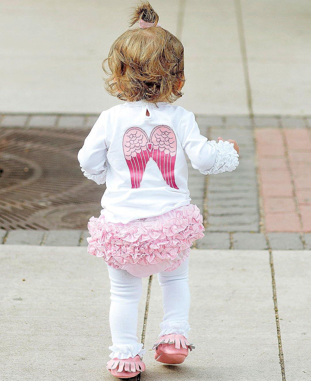 6-12m RuffleButts Baby//Toddler Girls Toddler Pink Cotton Ruffled Diaper Cover