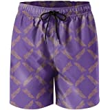 UASFAUUD Men's Swim Trunks Loose Beach Shorts Summer Quick Dry