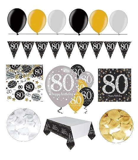celebran fijo para 80 cumpleaños I Completo 31 piezas ...