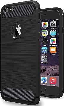 NEWC Funda para iPhone 6 y iPhone 6S, Funda Protectora con absorción de Impactos y Fibra de Carbono [Silicone Gel Flex]: Amazon.es: Electrónica