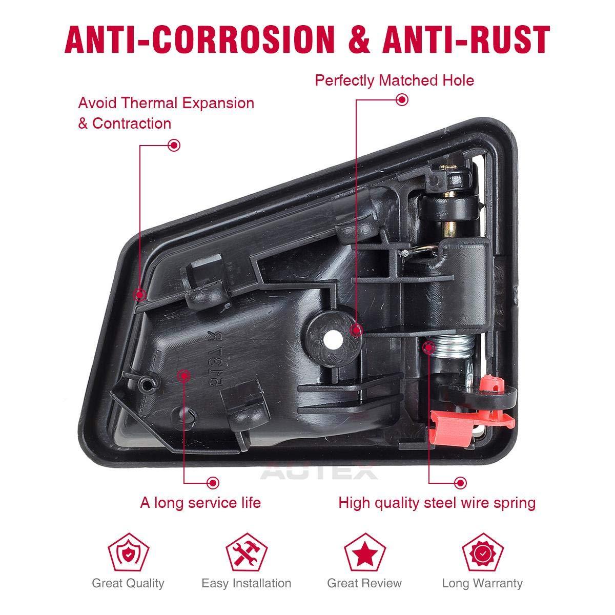 AUTEX Interior Front//Rear Left Driver Side Door Handle compatible with 1991 1992 1993 1994 1995 1996 1997 1998 Suzuki Sidekick Door Handle 8313056B015ES