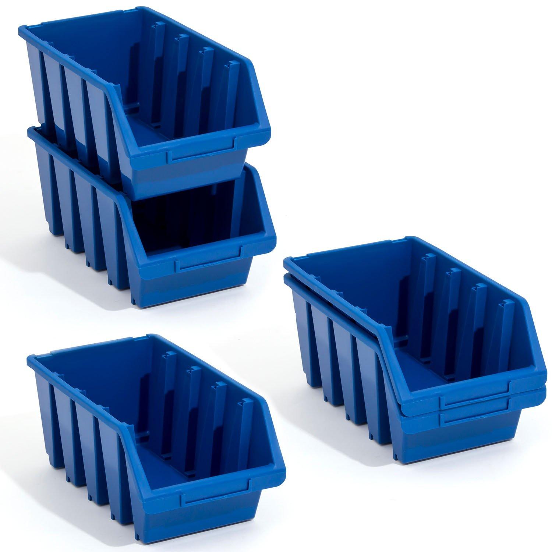 10 Stck Ergobox Box Stapelboxen blau Gr.4 Lagerkiste Kunststoff 204x330x155