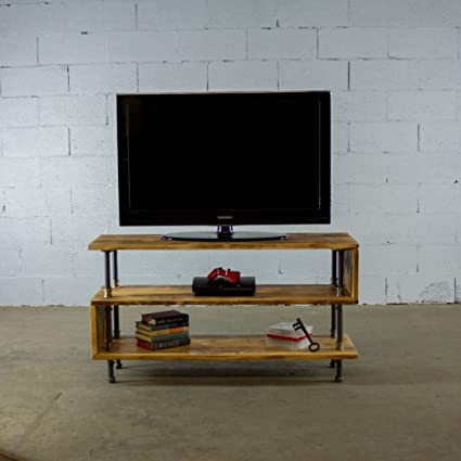 Gave Tv Meubel.Furniture Pipeline 48 Tucson Modern Industrial Solid Sustainable Wood Wooden Tv Stand Game Room Living Room Bedroom Furniture Natural Stained Wood