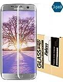 Taken Galaxy S7 Edge Protector de Pantalla - [3-Pack] HD Ultra Claro Película Cobertura Completa PET Protectores de Pantalla